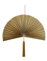 Bamboo Fan Wall Hanging Decor - Copper