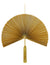 Bamboo Fan Wall Hanging Decor - Gold