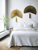 Bamboo Fan Wall Hanging Decor