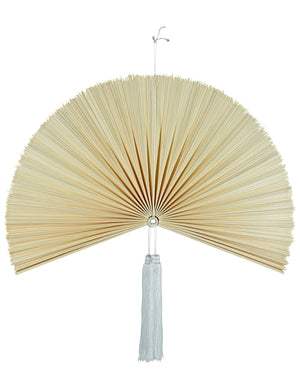Bamboo Fan Wall Hanging - Natural Small