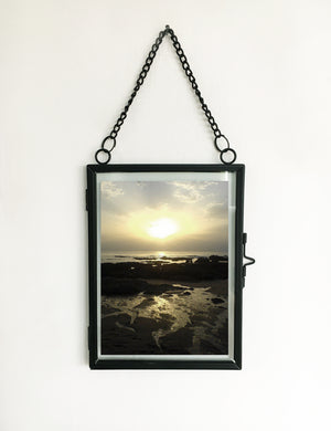 Black Industrial Hanging Picture Frame