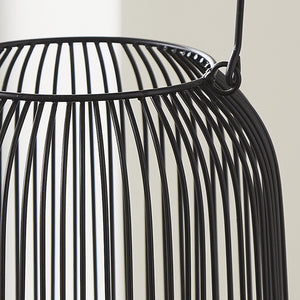 Black Wire Hurricane Lantern (Medium)