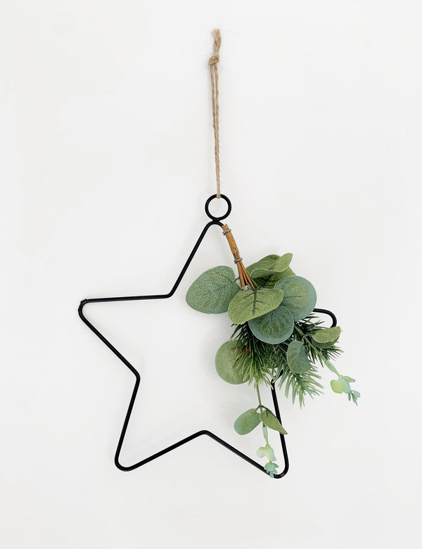 Black Wire Star Hanging Decoration