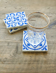 Blue Tile Coaster | Buy Stylish Homeware | The Den & Now