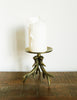 Brass Antler Candle Holder