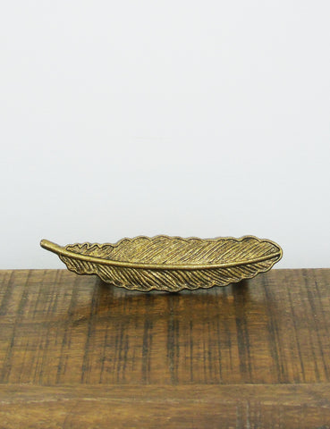 Brass Feather Drawer Knob