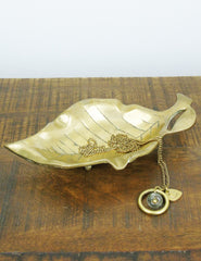 Brass Leaf Dish | Buy Vintage Homeware | The Den & Now