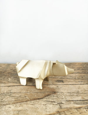Brass Origami Polar Bear