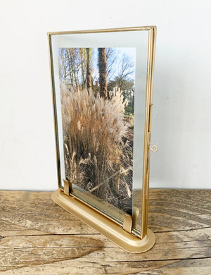 Antique Gold Standing Picture Frame
