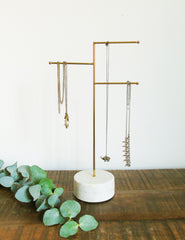 Brass & Marble Jewellery Stand | The Den & Now