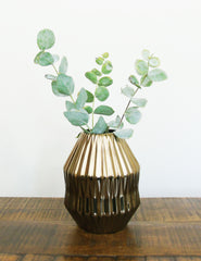 Bronze Geometric Ceramic Vase | The Den & Now