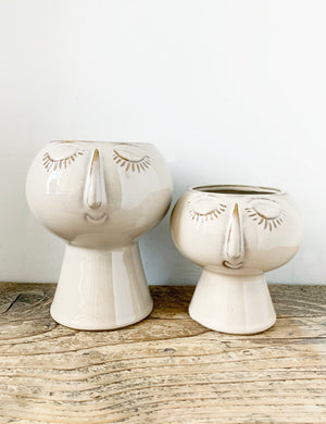 Ceramic Face Vase - Large & Small