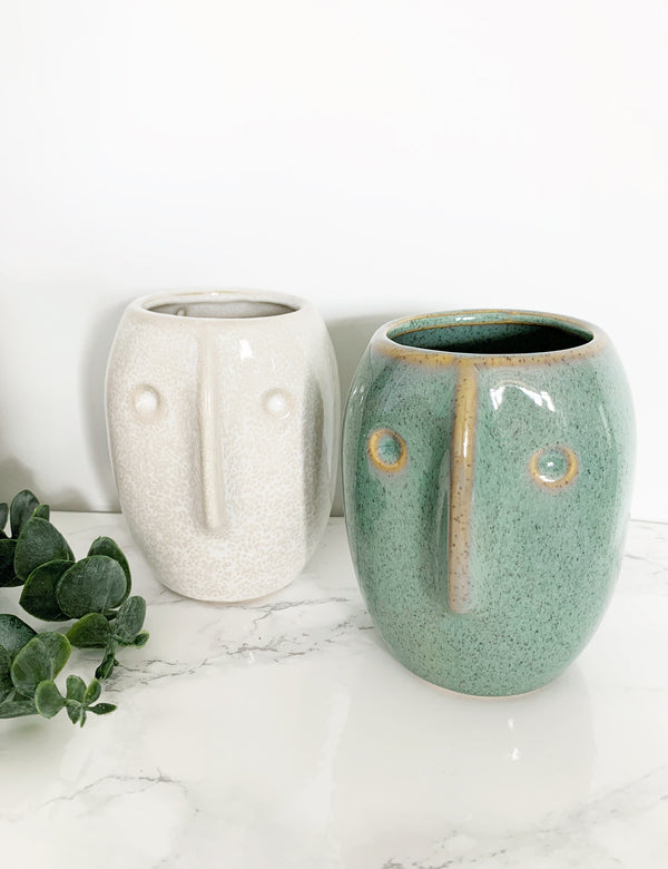 Ceramic Small Face Vases