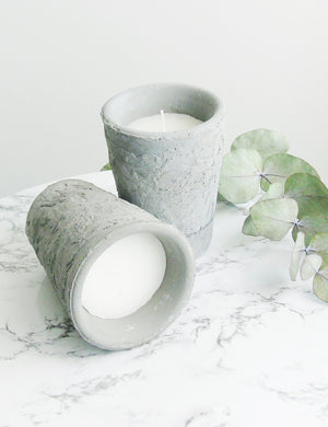 Concrete Candle Pot