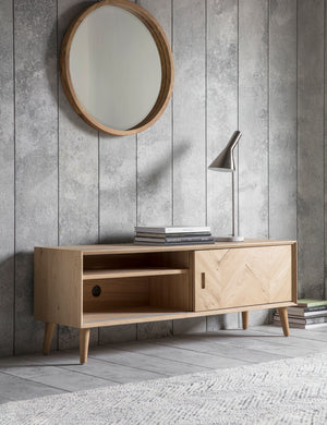 Copenhagen Oak Media Unit