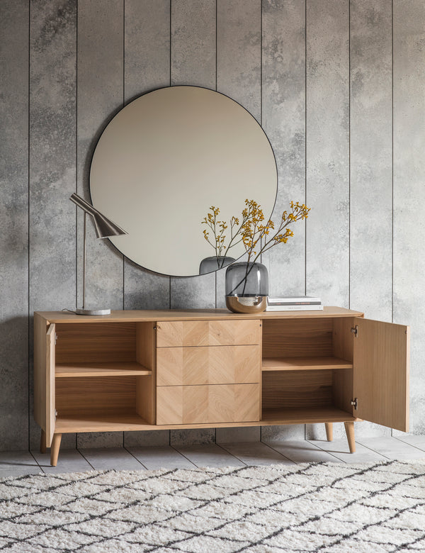Copenhagen Oak Sideboard | Wooden Scandi Sideboard