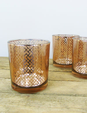 Copper Glass Votive