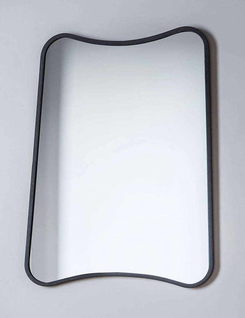 Curved Rectangle Black Mirror