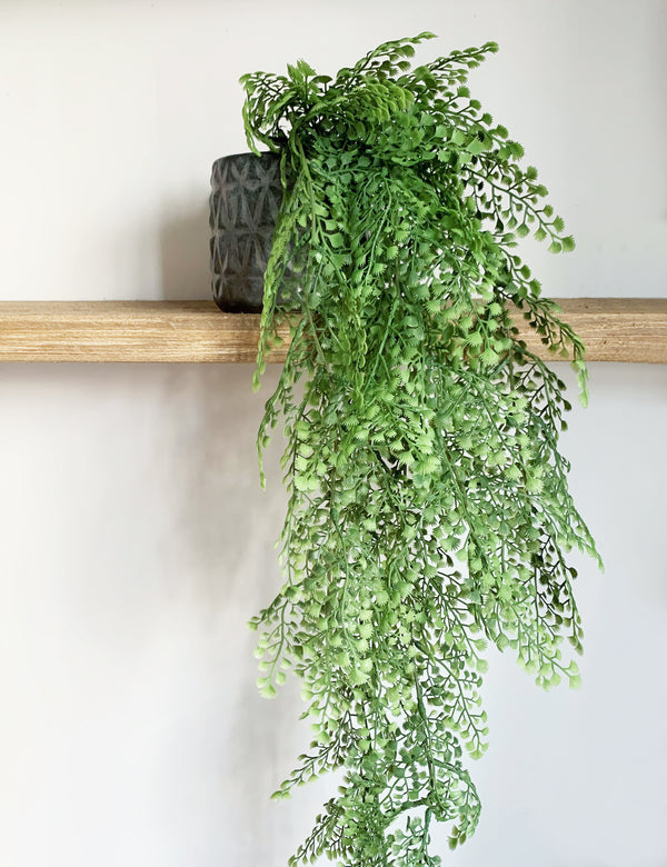Faux Hanging Maidenhair Fern Bush