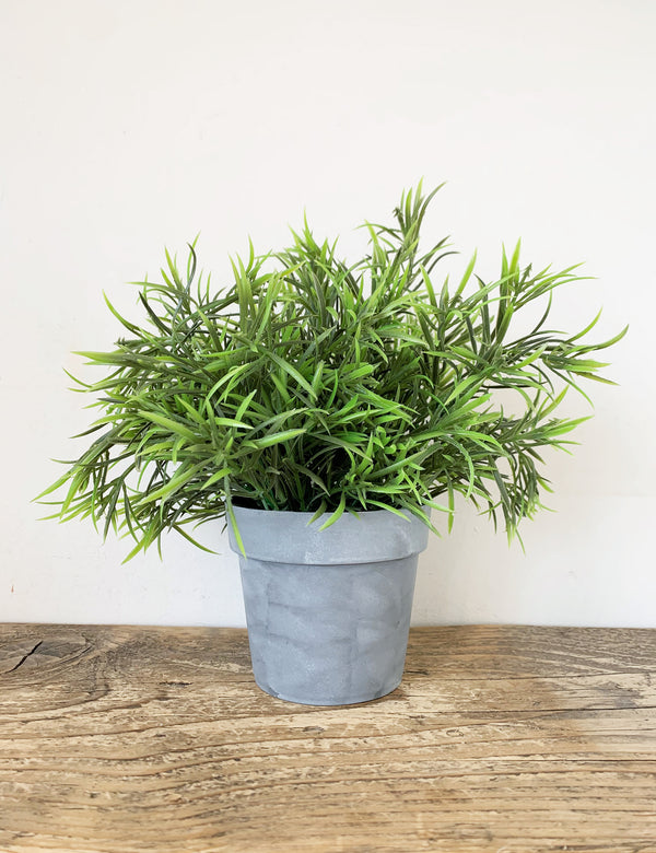 Faux Potted Grass Plant