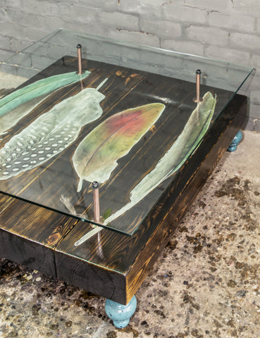 Bird Feather Reclaimed Coffee Table