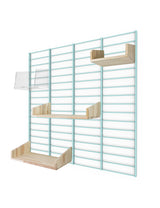 Fency Reclaimed Medium Wall Storage Shelving Unit - Green