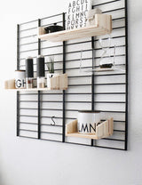 Fency Reclaimed Medium Wall Storage Shelving Unit - Black