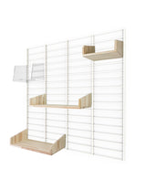Fency Reclaimed Medium Wall Storage Shelving Unit - White