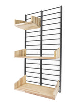 Fency Reclaimed Small Wall Storage Shelving Unit - Black - Pallet Shelves