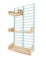 Fency Reclaimed Small Wall Storage Shelving Unit - Green - Pallet Shelves