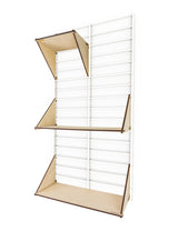 Fency Reclaimed Small Wall Storage Shelving Unit - White - Laser Wood Shelves