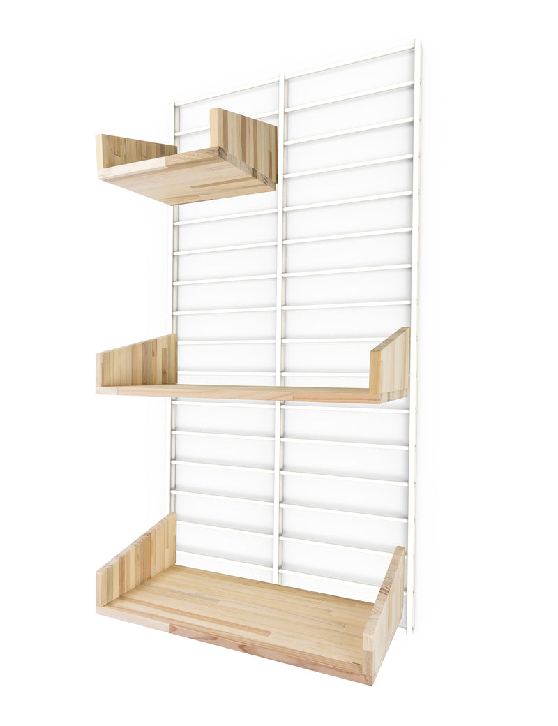 Fency Reclaimed Small Wall Storage Shelving Unit - White - Pallet Shelves