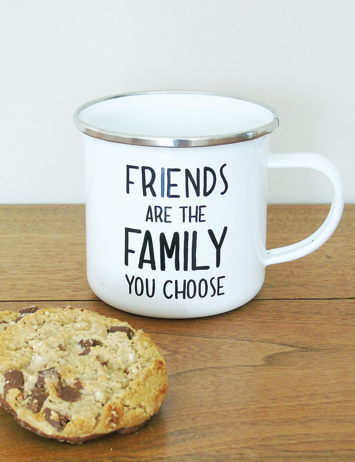 Friends Are The Family You Choose Enamel Mug