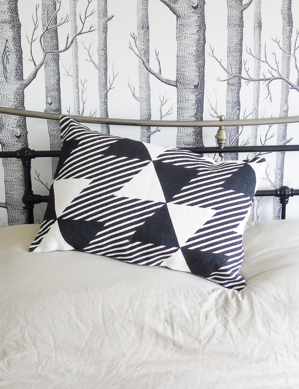 Geometric Monochrome Cushion