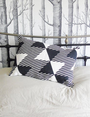 Geometric Monochrome Cushion | Buy Scandinavian Homeware | The Den & Now