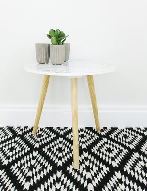 Geometric Recycled PET Rug
