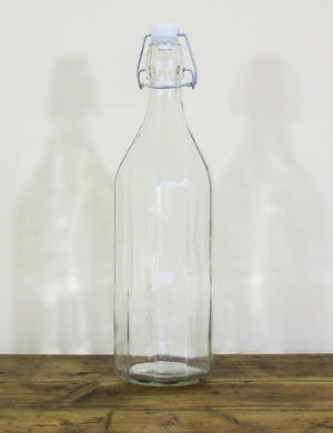 Glass Storage Bottle with Clip Lid