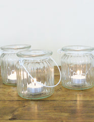 Glass Tea Light Jars | The Den & Now