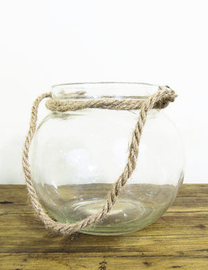 Glass Votive Ball with Rope