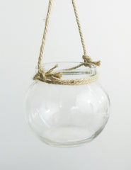 Glass Votive Ball With Rope | The Den & Now