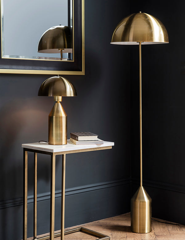 Gold Dome Floor Lamp