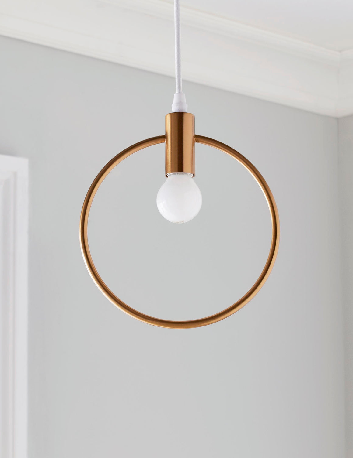 Gold Lunar Pendant Light