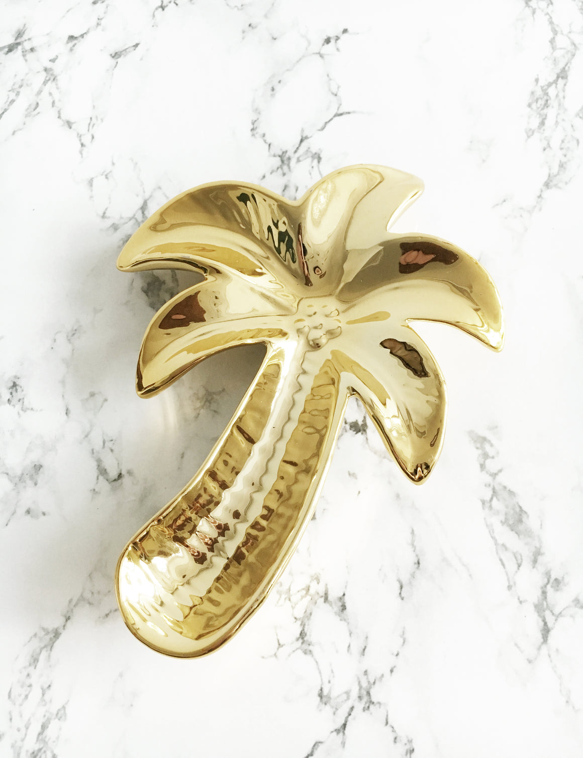 Gold Palm Tree Trinket Dish