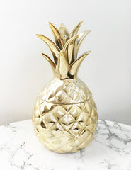 Gold Pineapple Trinket Box | The Den & Now