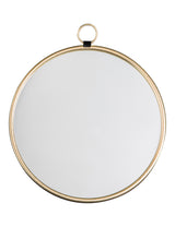 Gold Simple Round Mirror