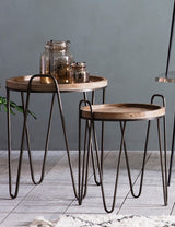 Hairpin Set of Side Tables