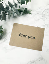 FREE Handwritten Personalised Notes - Love You