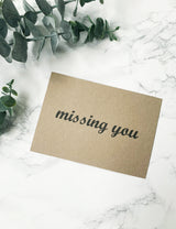 FREE Handwritten Personalised Notes - Missing You