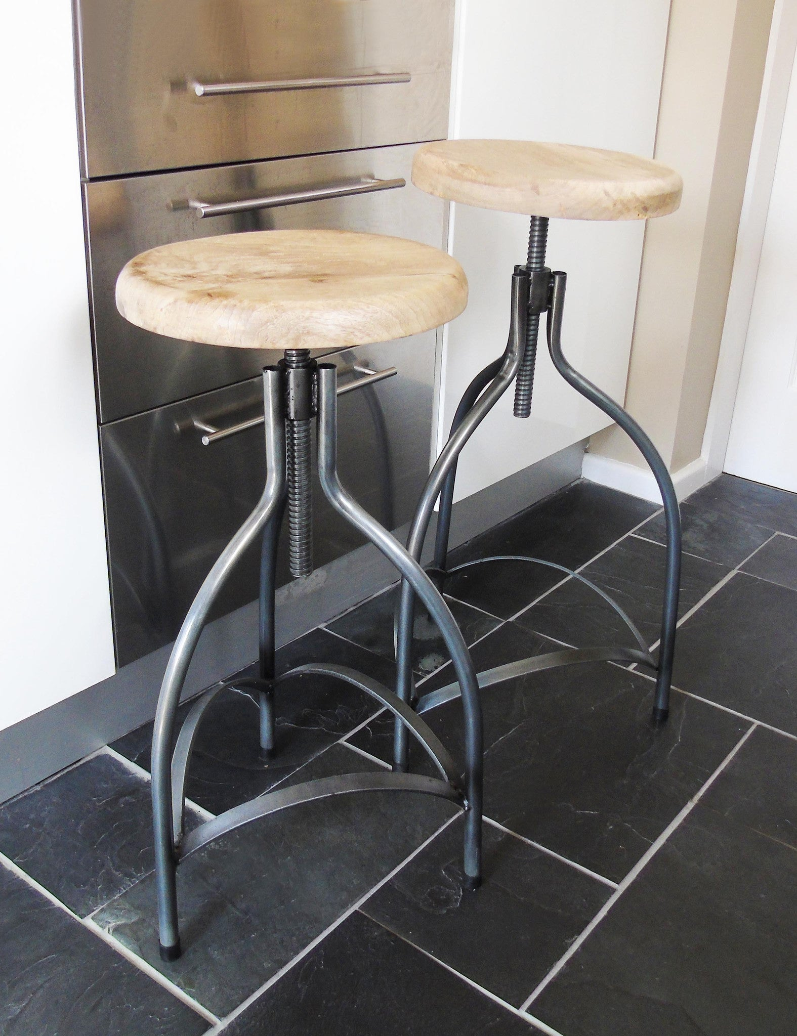 Industrial Adjustable Bar Stool The Den Amp Now