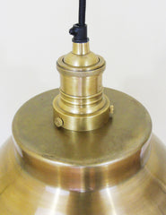 Industrial Brass Copper Dome Ceiling Light | The Den & No